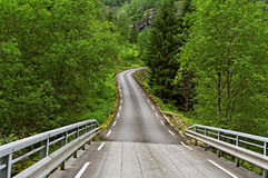 Norway road. Royalty Free Stock Images
