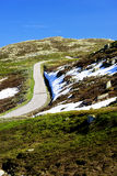 Norway road landscape in mountains Royalty Free Stock Photos