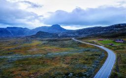 Norway Road Through the Mountains royalty free stock photos