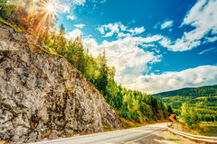 Norway, Road In Norwegian Mountains Stock Image