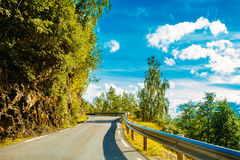 Norway, Road In Norwegian Mountains Stock Photography