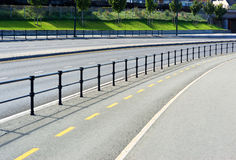 Norway road separation line background. Hd Royalty Free Stock Photo