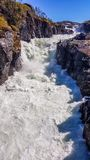 Norway - A rough waterfall falling to a rocky gorge stock photo