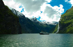 Norway's fjord Stock Image