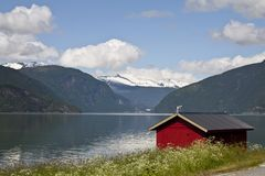 Norway scenery of Sognefjord Royalty Free Stock Image