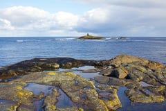 Norway sea shore. North sea shore in Norway Royalty Free Stock Photography