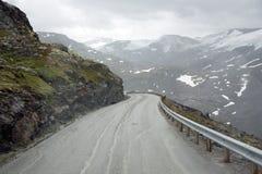Norway. Serpentine mountain highways Royalty Free Stock Photos