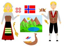 Norway set Obrazy Stock