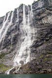 Norway - Seven Sisters Waterfall. Geirangerfjord - Europe travel destination Royalty Free Stock Photos