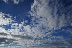 Norway sky with clouds. View of Norway sky with clouds from a cruise boat Royalty Free Stock Photo