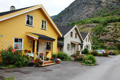 Norway. Small cozy village in Norway Stock Photography