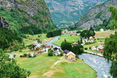 Norway. Small cozy village in Norway Stock Images