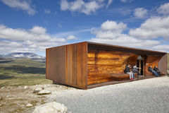 Norway. Snohetta viewpoint. Dovrefjell-Sunndalsfjella National P Royalty Free Stock Images