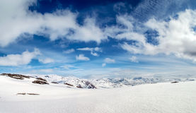 Norway snowy mountain view Royalty Free Stock Images