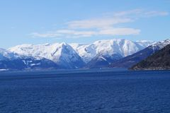 norway sognefjord Royaltyfri Bild
