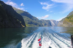 Norway - Sognefjord. The Sognefjord is Norway's longest and deepest fjord, and it's famous arm the Nærøyfjord has World Heritage status. The stock images