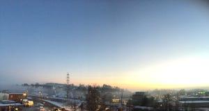 norway solnedgång Royaltyfri Bild