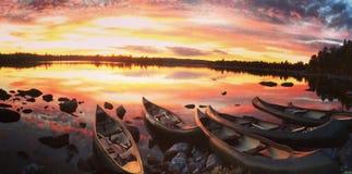 norway solnedgång Arkivfoto