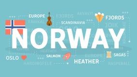 norway som ska välkomnas royaltyfri illustrationer