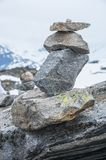 Norway stone pyramid Royalty Free Stock Photos