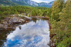 Norway summer landscape Stock Photo