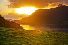 Norway sunset landscape Stock Image