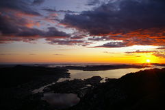 Norway sunshine stock photo