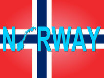 Norway text with map Stock Images