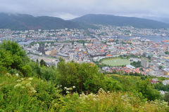 Norway. Top-view of Bergen Royalty Free Stock Photography