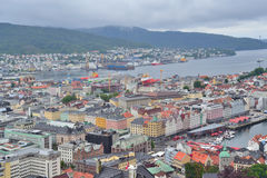Norway. Top-view of Bergen Royalty Free Stock Image