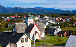 Norway town Stock Image