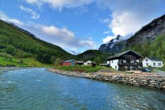 Norway town Royalty Free Stock Photo