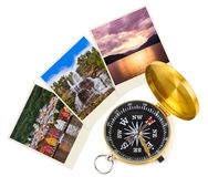 Norway travel images and compass (my photos) Royalty Free Stock Photos