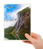 Norway travel photography in hand (my photo) Stock Images