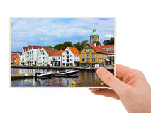 Norway travel photography in hand (Stavanger) Royalty Free Stock Photo