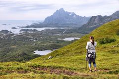 Norway trekking Royalty Free Stock Photos