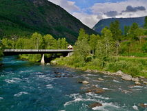 Norway-tributary of Lusterfjorden Stock Photography