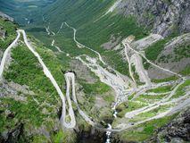 Norway. Trollstigen is one of the dangerous roads in the world. The view from the top it`s amazing Stock Photos