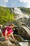 norway tvilling- vattenfall Arkivfoto
