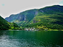 Norway-Undredal. Norway-view of the city Undredal and coast Sognefjord Royalty Free Stock Photography