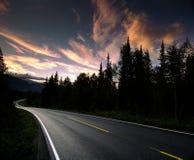 norway väg Arkivbild