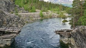 norway Vandring till och med Romsdalen stock video
