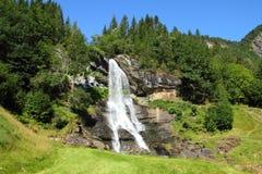 Norway, Vestlandet. Region (Western Norway). Famous Steinsdalsfossen waterfall. Scandinavian nature royalty free stock images