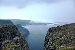 Norway. The view from Nordkapp, the North Sea Stock Photography