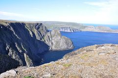 Norway. The view from Nordkapp, the North Sea Stock Image