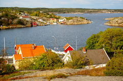 Norway, Vilage By Fjord Kragero, Portor Royalty Free Stock Photography
