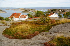 Norway, vilage by fjord Kragero, Portor stock images