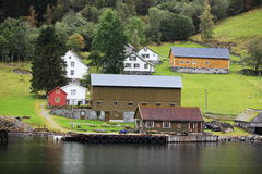 Norway Village Royalty Free Stock Photography