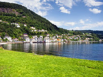 Norway village Royalty Free Stock Photo