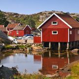 Norway village Royalty Free Stock Images